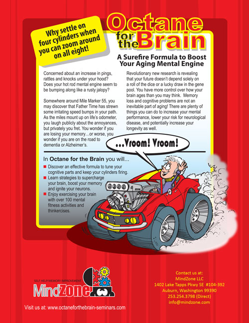 The back cover of the Octane For The Brain book